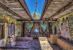 DeGrazia Chapel Interior (Jim Purcell) Tags: summer arizona usa sunlight southwest art digital photoshop afternoon artgallery pentax zoom tucson az exhibit architectural multipleexposure photograph american impressionism summertime dslr hdr highdynamicrange topaz lightroom ourladyofguadalupe photomatix photomechanic tonemapping pimacounty artstyles tucsonphotographer pentaxk5 smcpentaxda1650mm28edalifsdm