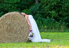 Trash The Dress - 2 (MsMimiSmeeks) Tags: flowers summer dress july hay weddingdress haybale ttd 2011 trashthedress alexlucii