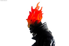 Ghost Rider's silhouette