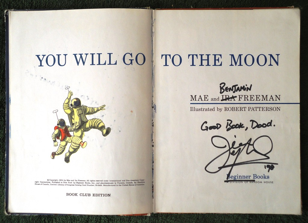 You Will Go to the Moon interior signed by Moxy Fruvous 2