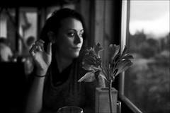 dinner at loch lommond (gorbot.) Tags: blackandwhite bw dinner roberta f19 colquhouns lodgeontheloch leicam8 digitalrangefinder ltmmount voigtlander28mmultronf19 silverefexpro2