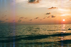 (Olivia Ross) Tags: ocean light sunset sea sun film 35mm canon island florida ae1 leaks captiva