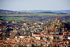 Le Puy-en-Velay (BaboMike) Tags: city france church statue rock french town cross cathedral mary chapel mount virgin lepuyenvelay velay stockcategories 18270mm