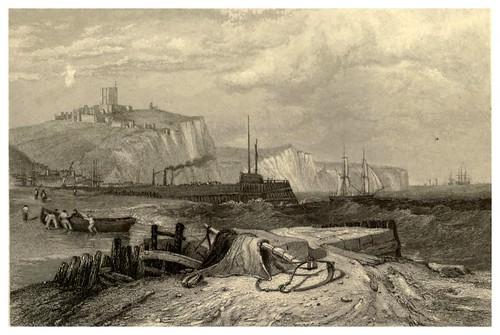 018- Muelle de Dover-Inglaterra-Stanfield's coast scenery…1836- Clarkson Stanfield