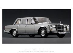 Mercedes-Benz 1963 600 SWB - Silver (Motorcar Miniatures) Tags: silver limo 600 pullman mercedesbenz limousine 1963 118 swb autoart