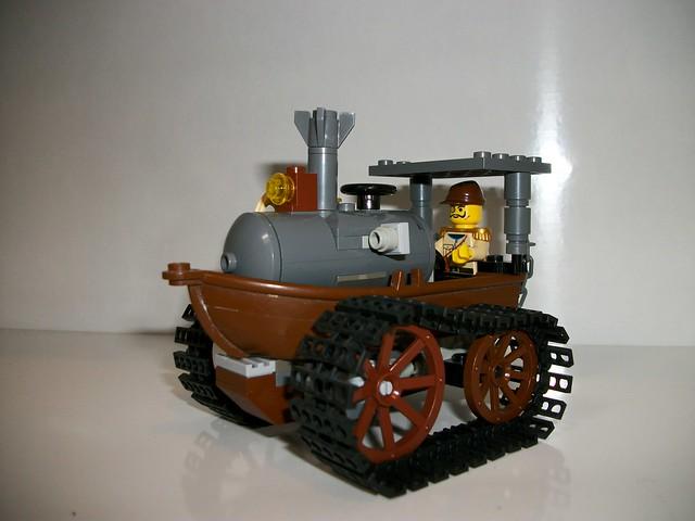 Tracteur steampunk en briques LEGO par Fullmetal