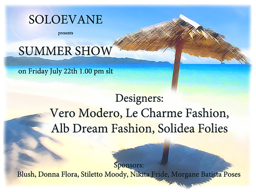 SUMMER SHOW BY SOLOEVANE by Alii Vella