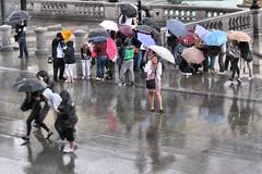 Trafalgar Square (Arthur Cornwell) Tags: reflection wet rain square trafalgar tourist