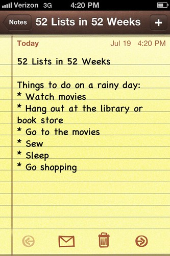 52 Lists in 52 Weeks || Week 7