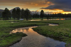 Budd Creek Sunset, Tuolumne Meadow, Yosemite National Park (SteveD.) Tags: sunset mountains landscape nikon stream sierra yosemite pacificcresttrail pct yosemitenationalpark wilderness sierranevada tuolumne jmt highsierra tuolumnemeadows mountainlandscape usnationalpark easternsierra tuolumneriver 2011 d90 johnmuirtrail nikon1755 tuolumnemeadow specland fairviewdome buddcreek nikonlandscape nikond90 wildernesslandscape wildernessphotography yosemitesunset nationalparklandscape d90landscape sierranevadalandscape stevedunleavy chucklepix stevedunleavy2011 pctyosemite buddcreekyosemite stevedunleavycom stevedunleavyphotography
