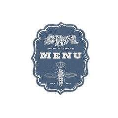 Dog & Bee Pub Menu Graphic (Howdy, I'm H. Michael Karshis) Tags: beer menu design pub texas graphic bee crown publichouse beeville sharkthang brendahughes hmkarchive hmichaelkarshis dogabdbeepub