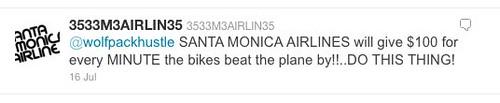 Santa Monica Airlines Twitter
