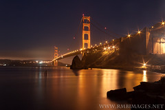 Golden Gate #3 (Explored) (Bowman66) Tags: sanfrancisco california longexposure bridge light water rock night bay north arches goldengatebridge sausalito abigfave coth5 galleryoffantasticshots flickrstruereflection1 flickrstruereflection2 flickrstruereflection3 flickrstruereflection4 masterclasselite