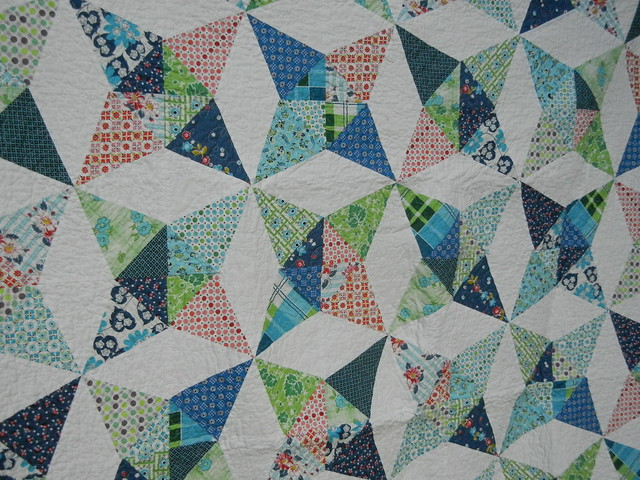 Kaleidoscope quilt - finished!