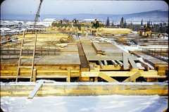 DSC09616 (Mike Leavenworth) Tags: wood color alaska vintage concrete kodak ak slide 1950s forms barracks coe afb eielson corpsofengineers eileson