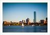 Boston memories (Andrea Rapisarda) Tags: sunset usa boston skyline buildings river boats sailing fiume olympus barche goldenhour oly rivercharles e620 andrearapisarda