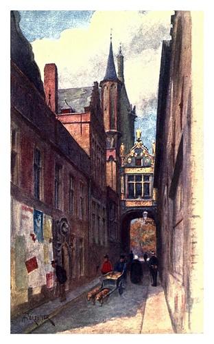 008-Brujas-calle del asno ciego-Belgium 1908- Amédée Forestier