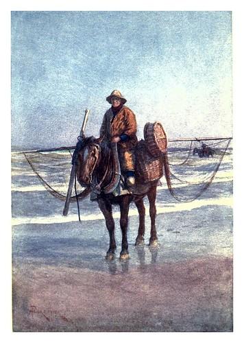 011a-Un camaronero a caballo en Coxide-Belgium 1908- Amédée Forestier