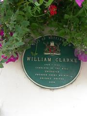 Photo of William Clarke green plaque