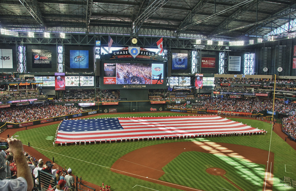 Chase Field - ASG 11 - Pregame Giant Fla by Eric Kilby, on Flickr