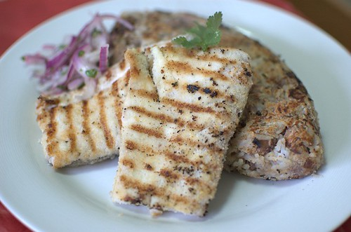 Tacu tacu with grilled fish