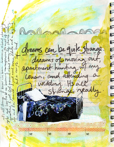 Awkward & Beautiful: Journal Page - Strange Dreams