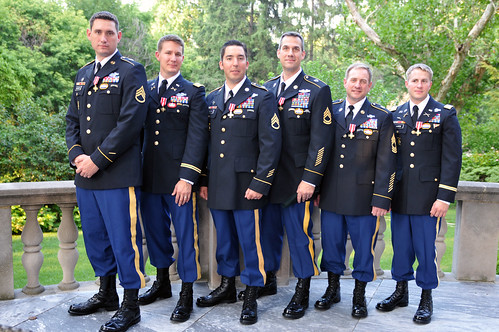 National Guard, active duty Green Berets receive high honor from French Ambassador