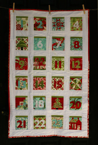 Countdown to Christmas quilt 1