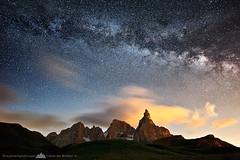 Starry Night - Dolomites - Italy (Edoardo Brotto) Tags: italy night stars nikon dolomites dolomiti starrynight stelle milkyway starrysky paledisanmartino vialattea d700 nikond700 nikon1424 nikkor1424 edoardobrotto