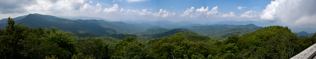 view from the tellico gap - wesser tower - nc