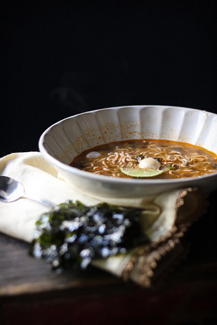 8 AdventuresinCooking-Ramen Noodles Broth Poached Quail Eggs