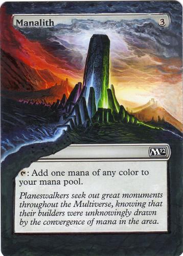 Manalith Altered Art Magic the Gathering MTG Artwork Magic Card Art M12 Magic Card