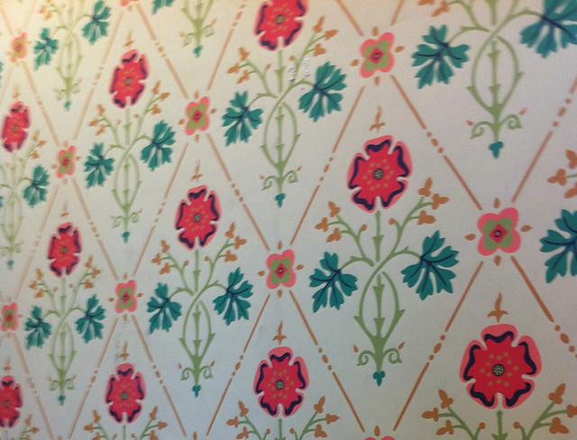 floral diamond paper