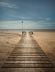 Boardwalk (.Brian Kerr Photography.) Tags: sky seascape beach clouds canon landscape sand jetty coastal cumbria boardwalk coastline groyne irishsea seascale eos5dmkii briankerrphotography