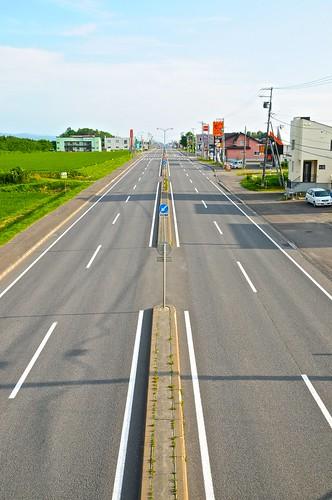 日本一直線の国道