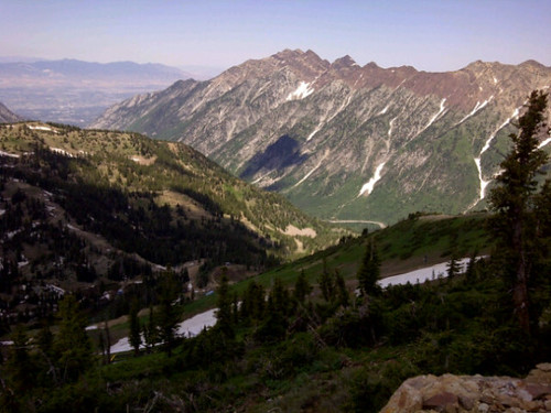 @looneysonya how about these looking down from Hidden Peak at Snowbird, Utah