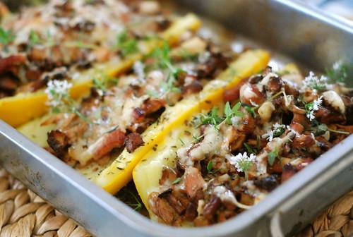 kukeseenetäidisega suvikõrvits/filled zucchini