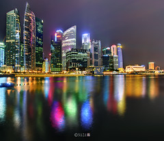 The Night That The Lights Never Went Out | Part 5 | Singapore (naza.carraro) Tags: show park city travel light party vacation holiday color water festival museum architecture marina river geotagged bay sand nikon singapore asia quay explore esplanade cbd merlion temasek singapura mbs raffles sungai kallang naza artscience naza1715 nazarudin