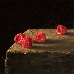 Raspberries (fRiedl aRt) Tags: painting oil raspberries friedl rockford masonite artfriedl