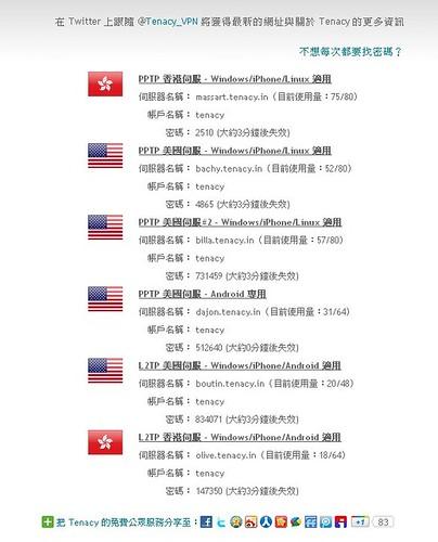 服务器列表