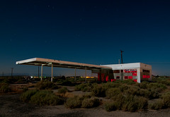 North Edwards (Noel Kerns) Tags: california abandoned station night desert north gas mojave edwards