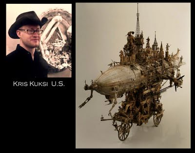 Steampunk Dirigible Sculpture