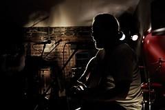 Ted Higgins @ Ernies Bar, Wicklow, Ireland during the Wicklow Regatta Festival 2011 (Bren Cullen) Tags: music silhouette canon back 7d singer lit songwriter 2470
