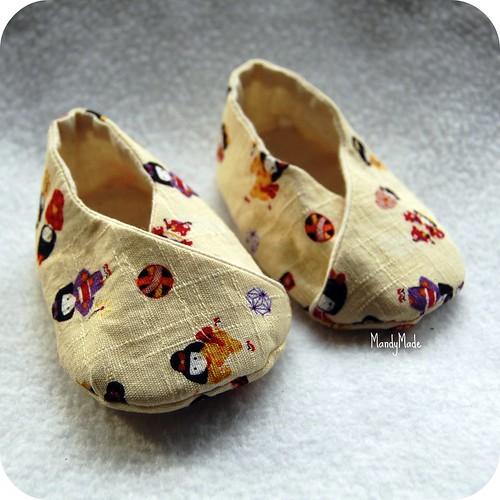 Michi Kimono-Style Baby Booties - 1