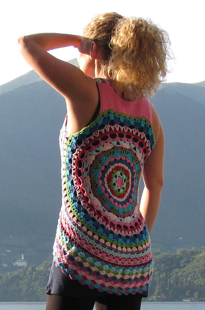 Free Crochet Patterns For Circular Vest : Crochet...Gotta Love It! Blog: LUL s Flower Power Vest ...