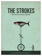 Strokes (Paul N Grech) Tags: fish photoshop design graphicdesign strokes surreal unicycle illustrator gigposter paulgrech