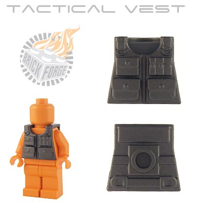 Custom minifig Tactical Vest - Steel