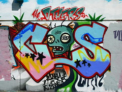 COS (JOHN19701970) Tags: uk england streetart london wall graffiti paint artist graf july spray aerosol cos lambeth stockwell 2011