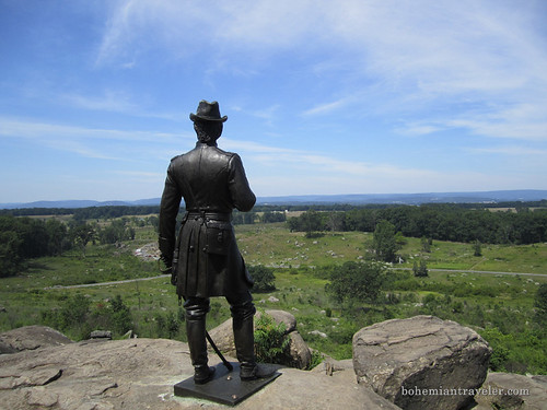 Valley of Death from atop Little Roundtop,Gettysburg Battlefield
