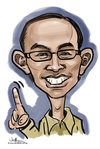 digitcal caricature live sketching for Utell Hotels and Resorts - 2